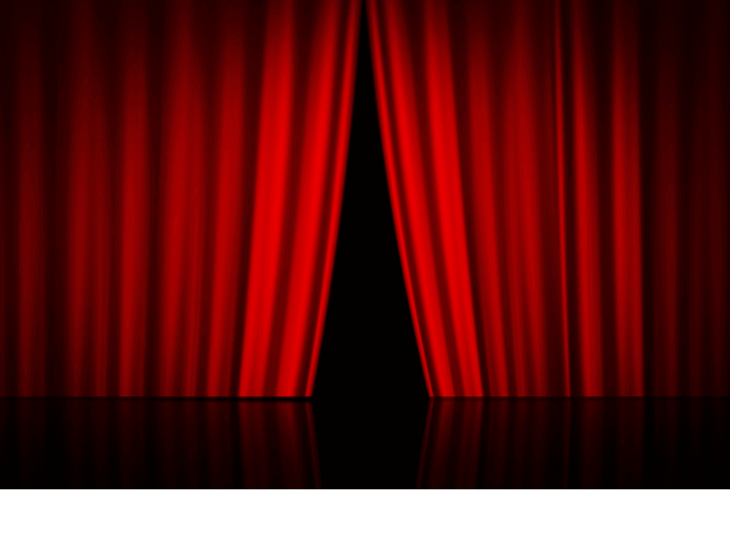 Velvet,red curtain opening on stage