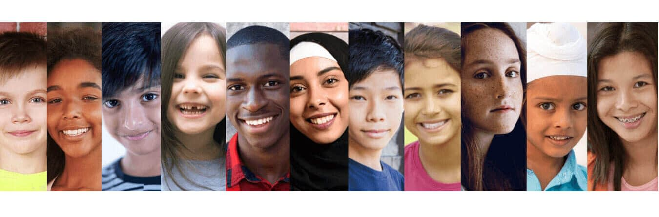 young, kids, diverse, ethnicity, gender